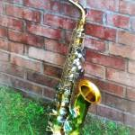 """Saxophone Against Brick"" by susansartgallery"
