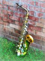 Saxophone Against Brick