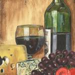 """Red Wine, Cheese and Grapes"" by DebbieDeWitt"