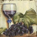 """Red Wine and Grape Leaf"" by DebbieDeWitt"