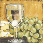 """White Wine, Cheese and Grapes"" by DebbieDeWitt"