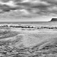 Scarborough Castle Panorama from North Bay Promena Art Prints & Posters by Mike Evans