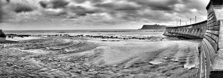 Scarborough Castle Panorama from North Bay Promena