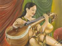 Yong Lady with Veena