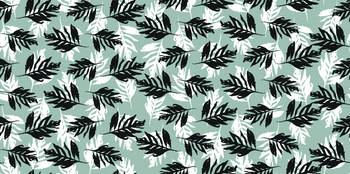 Monochrome Ferns Pattern