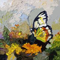 Abstract Butterfly on Lantana