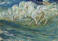Neptune's Horses 1910 (colour litho)