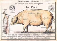 Cuts of Pork, illustration from a French Domestic