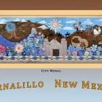 """Poster of City Mural (Photo) Bernalillo New Mexico"" by Wilford"