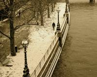Embankment in snow