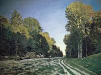 Route de Chailly, Fontainebleau, 1864 (oil on canv