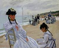 On the Beach at Trouville, 1870-71 (oil on canvas)