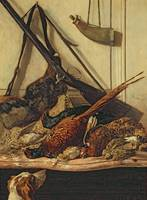 Hunting Trophies, 1862 (oil on canvas)