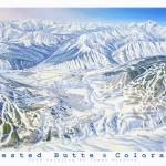 """Crested Butte Winter Regional"" by jamesniehuesmaps"
