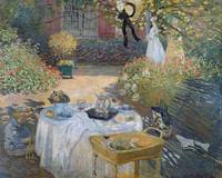 The Luncheon: Monet's garden at Argenteuil (oil on