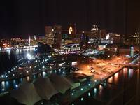 Baltimore, Maryland Harbor at Night