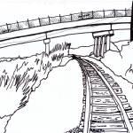 """Railroad Marker Sketch"" by rozine"