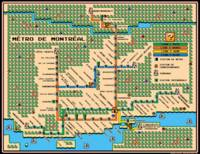 Montreal Metro Map In Mario 3 Style