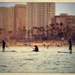 """Long Beach Paddle Boarders"" by angelstudio54"