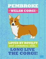 Pembroke Welsh Corgi No Flag Blue/Green