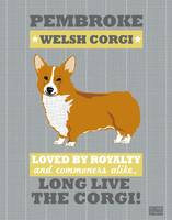 Pembroke Welsh Corgi No Flag Gray/Gold
