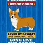 """Pembroke Welsh Corgi No Flag Royal/Red"" by Nose2Tales"