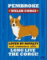 Pembroke Welsh Corgi No Flag Royal/Red
