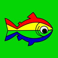 rainbow-trout-green-background