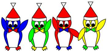 penguin-kids-red-yellow-green-blue
