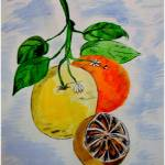 """Still Life Oranges"" by artbyallyson"