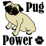 """Pug Power"" by maryostudio"