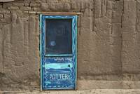 Blue Door & Adobe Wall - Taos, New Mexico