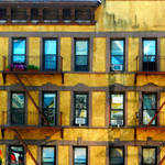 """Yellow Building NYC"" by ellenhagan"