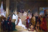 Baptism of Pocahontas by John Gadsby Chapman