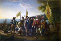 The Landing of Columbus  by John Vanderlyn