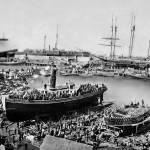 """""""Ferry Boat Monarch, San Francisco c1880"""" by worldwidearchive"""