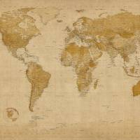 """World Map Antique Style"" by ModernArtPrints"