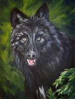 Portrait of a Timberwolf