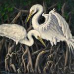 """Egrets and Mangroves"" by DCHeslin"