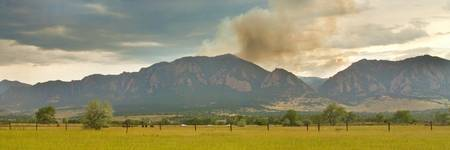 Country View Flagstaff Fire Panorama