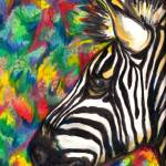 """Colorful Zebra"" by DennyPhil"