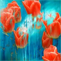 Weeping Tulips Art Prints & Posters by ART for Cancer by Cid Palacio