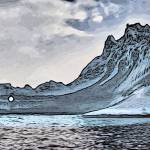 """Icebergs near the Antarctic Peninsula."" by WallArtDeco"