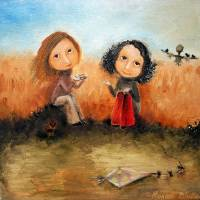 Waiting For The Wind Art Prints & Posters by Monica Blatton