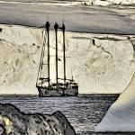 """Sednaiva, a Yacht in the Antarctica"" by WallArtDeco"