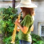 """Girl Playing Saxophone"" by susansartgallery"