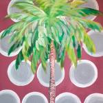 """Mauve Polka Dot Palm Tree"" by KAbrahamson"
