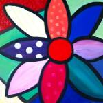 """Multicolor Flower"" by KAbrahamson"