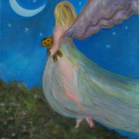 Night Fairy Overlook Art Prints & Posters by Elizabeth Liz Pritchett