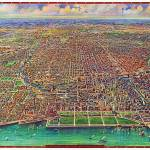 """Chicago Illinois Panoramic Map"" by ArtLoversOnline"
